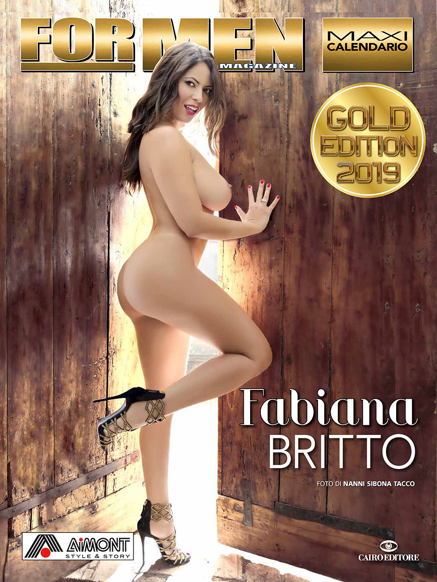 Calendario For Men Gold Edition 2019 FABIANA BRITTO Cairo Editore backstage